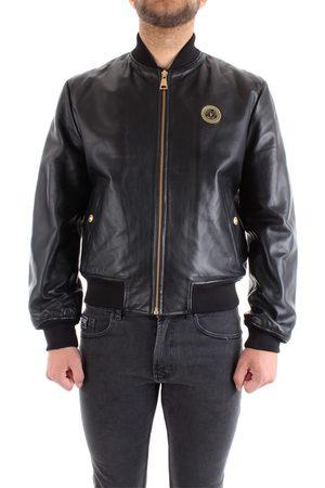VERSACE Leather jackets Men