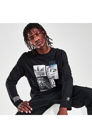 adidas Men Long Sleeve - Men's Originals Common Memory Long-Sleeve T-Shirt in / Size Small 100% Cotton/Jersey