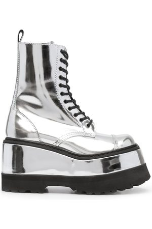 JUNYA WATANABE Metallic leather platform boots