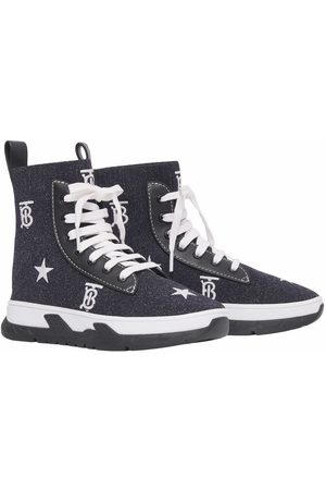 Burberry Embroidered-logo lace-up sneakers