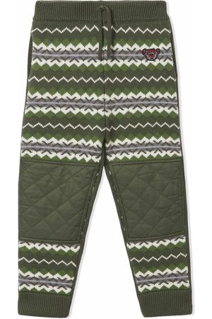Burberry Pants - Patterned intarsia-knit trousers