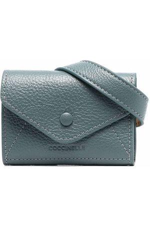 Coccinelle Women Wallets - Embossed-logo pebble-leather wallet