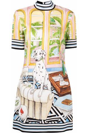 Casablanca Women Party Dresses - Dalmatian Mansion mock-neck mini dress