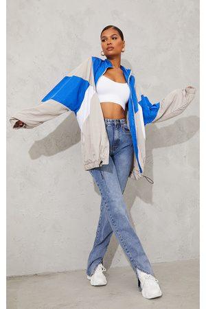 PRETTYLITTLETHING Women Casual Dresses - Colour Block Oversized Tracksuit Jacket