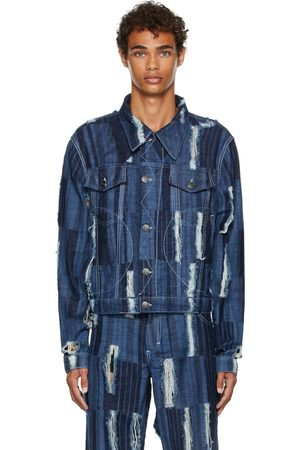 Charles Jeffrey Loverboy Distressed Awol Denim Jacket