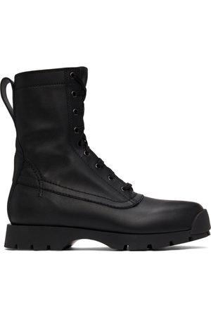 Jil Sander Men Lace-up Boots - Black Lace-Up Elba Boots
