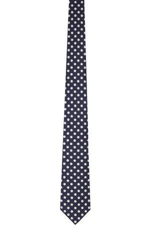 Beams Men Neckties - Silk Polka Dot Print Tie