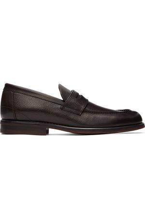 Loro Piana Brown City Walk Loafers