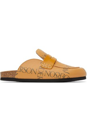 J.W.Anderson Men Loafers - Tan Leather Print Loafers