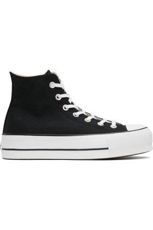 Converse Men Platform Sneakers - Black Chuck Taylor All Star Lift Platform High Sneakers