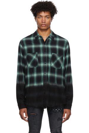 AMIRI Men Casual - Dip Dye Shadow Plaid Shirt