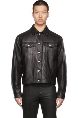 1017 ALYX 9SM Men Leather Jackets - Leather Trucker Jacket