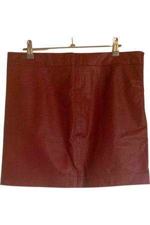 Ganni Women Mini Skirts - Leather mini skirt