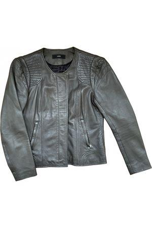 UTERQUE Women Leather Jackets - Leather biker jacket