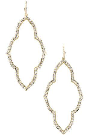 Kendra Scott Women Earrings - Abbie Open Frame Earring in Metallic .
