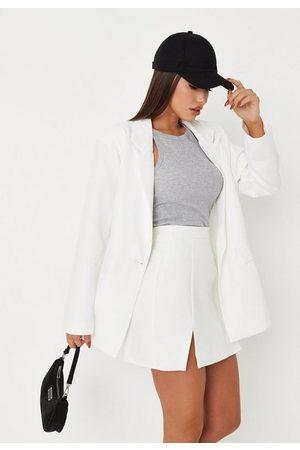 Missguided Tailored Double Split Mini Skirt
