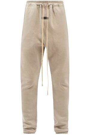 FEAR OF GOD Dropped-seat Cotton-jersey Track Pants - Mens - Grey