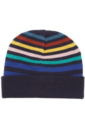 Paul Smith Striped Wool Beanie Hat - Mens