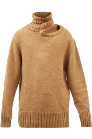 Y / PROJECT Cutout Roll-neck Oversized Knit Sweater - Mens