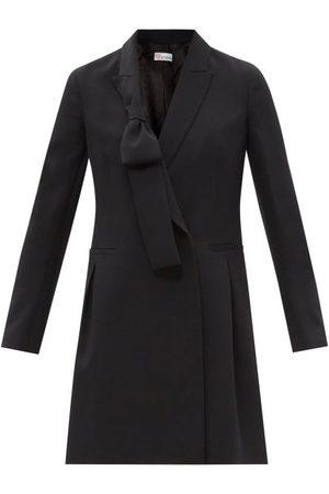 RED Valentino Bow-lapel Crepe Mini Dress - Womens