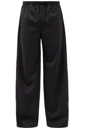 Ludovic De Saint Sernin Elasticated-waist Cotton Wide-leg Trousers - Mens