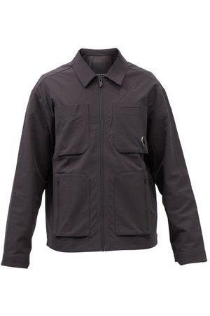 Greater than A Men Casual - Cold-Wll* - Logo-ptch Shell Overshirt - Mens - Blck