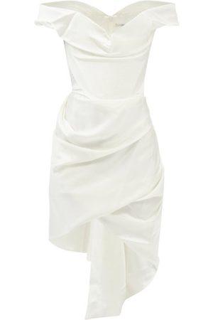Vivienne Westwood Women Strapless Dresses - Cora Off-the-shoulder Crepe Mini Dress - Womens