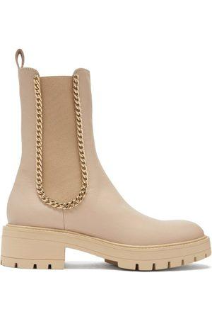 Aquazzura Mason Chain-trim Leather Chelsea Boots - Womens