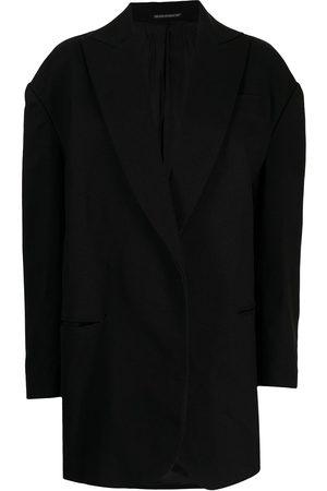 YOHJI YAMAMOTO Women Long sleeves - Long-sleeve wrap jacket