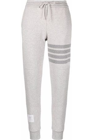 Thom Browne Women Sweatpants - Signature 4-Bar Stripe track pants - Grey