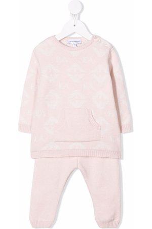 Emporio Armani Sets - Logo-knit wool trouser set