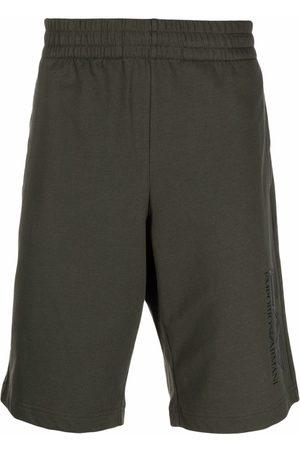 EA7 Men Sports Shorts - Embroidered-logo cotton shorts