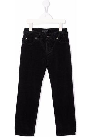 Emporio Armani Corduroy straight-leg trousers