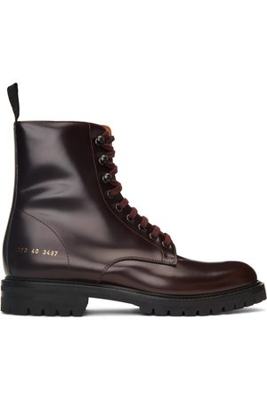 COMMON PROJECTS Red Combat Lace-Up Boots