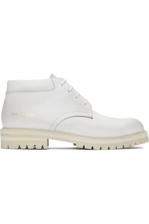 COMMON PROJECTS Men Lace-up Boots - White Combat Derby Lace-Up Boots