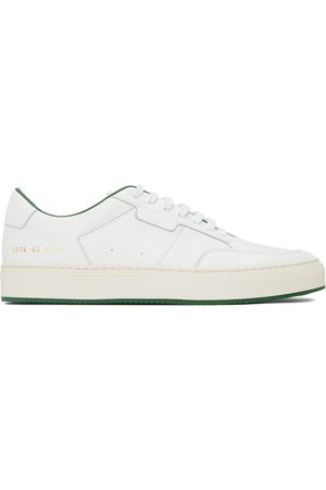 COMMON PROJECTS White & Green Tennis Low Sneakers