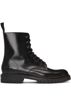 COMMON PROJECTS Black Combat Lace-Up Boots