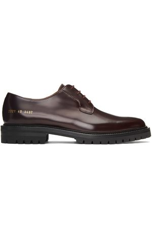 COMMON PROJECTS Men Formal Shoes - Red Lug Sole Derbys