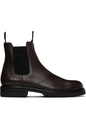COMMON PROJECTS Brown Winter Chelsea Boots