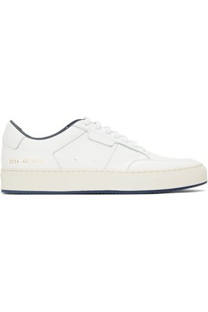 COMMON PROJECTS Men Sports Shoes - White & Navy Tennis Low Sneakers