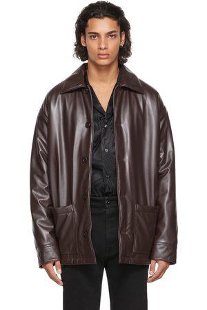 Opening Ceremony Men Leather Jackets - Faux-Leather Car Jacket