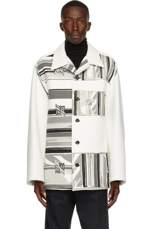We11 Done Men Jackets - Flat Chain Print Shirt Jacket