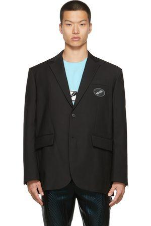 We11 Done Oversized Suit Logo Blazer