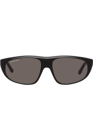 Balenciaga Women Wrap tops - Black Flat Top Wrap Sunglasses