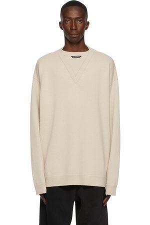 Balenciaga Men Sweatshirts - Wool Flatground V-Neck Sweater