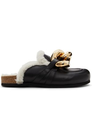 J.W.Anderson Shearling Chain Loafers