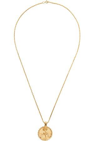 Ernest W. Baker Gold EWB Rose Necklace