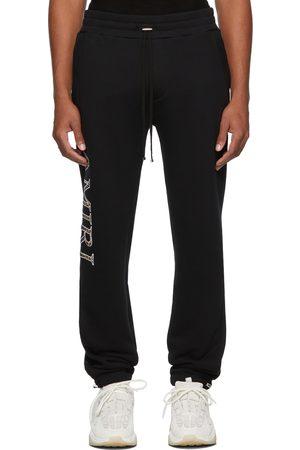 AMIRI Men Sweatpants - Leopard Appliqué Sweatpants