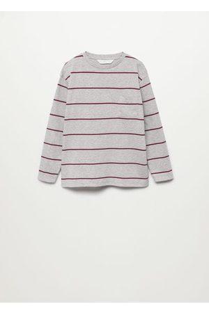 MANGO Striped long sleeves t-shirt