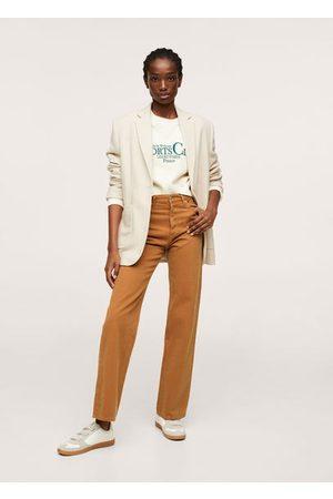 MANGO High waist straight jeans